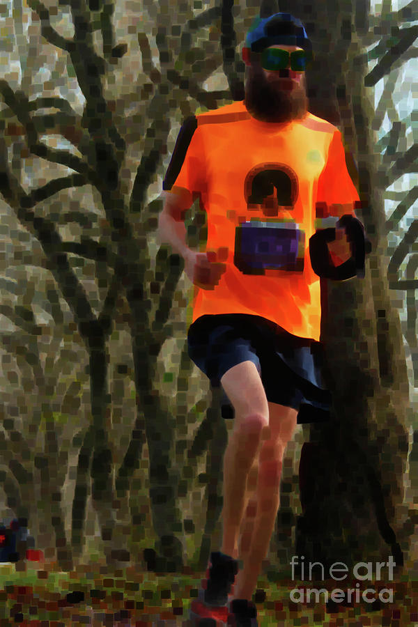Running Photograph - Running On Orange  by Steven Digman