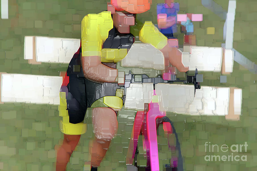 Cycling Photograph - Running The Bike  by Steven Digman