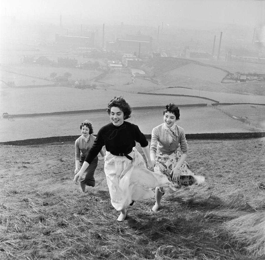 Running Uphill Photograph by Bert Hardy