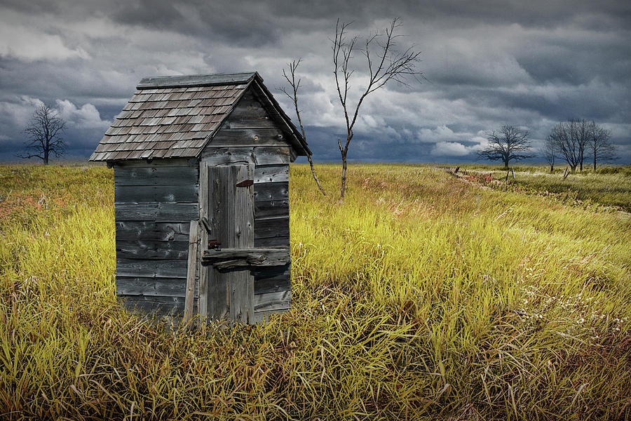Rural Outhouse langishing in the Countryside by Randall Nyhof