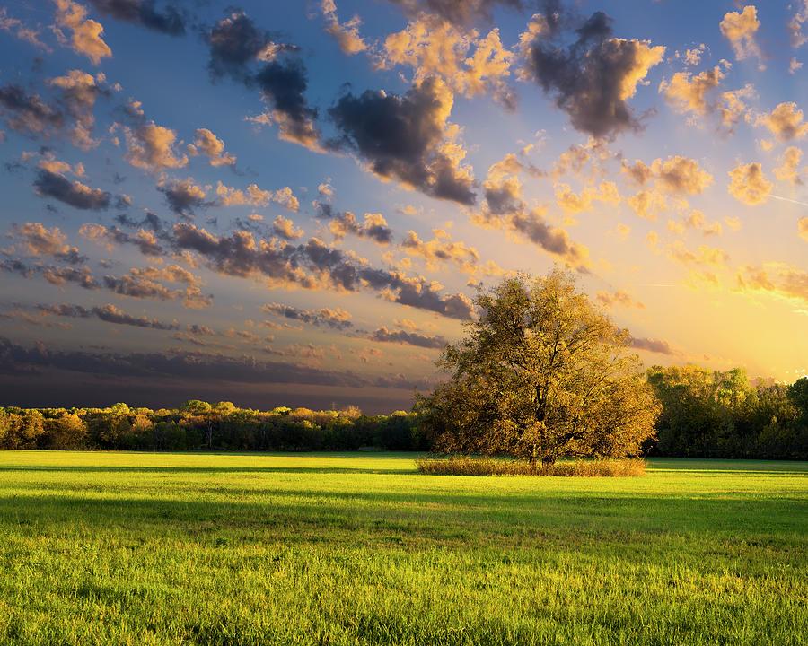 Rural Texas Autumn Sunset Photograph by Dean Fikar