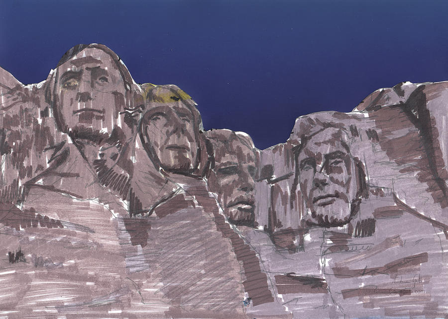 Rushmore Markers Digital Art