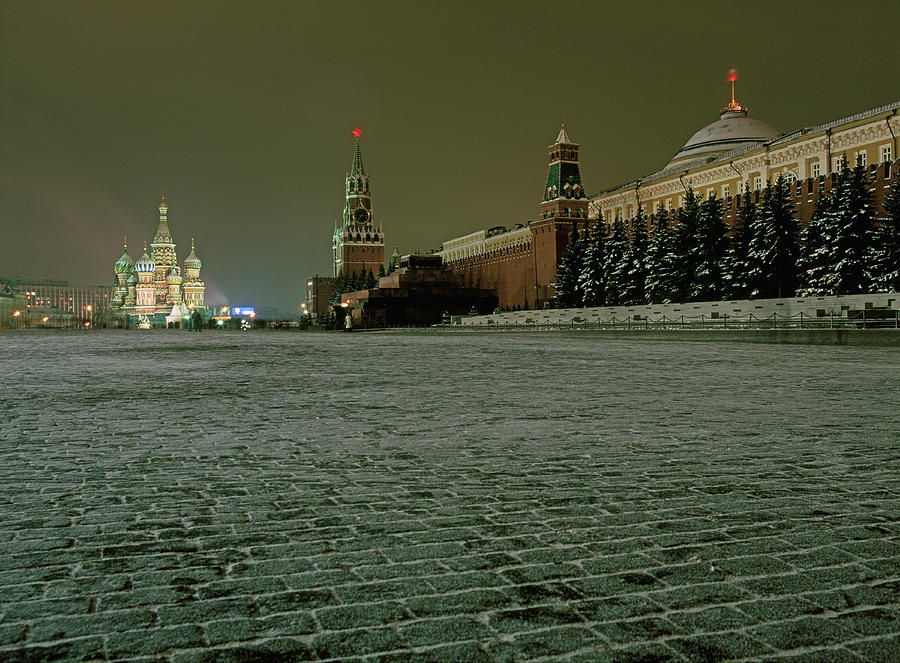Russia, Moscow, Red Square And Kremlin Photograph by Hans Neleman