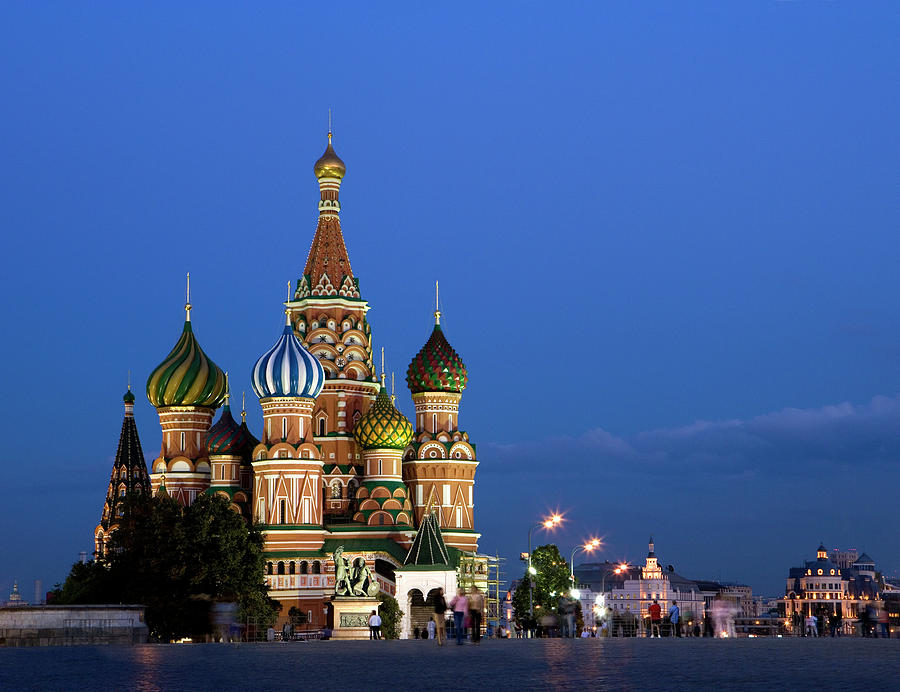 Russia, Moscow, Red Square, Saint Photograph by Frans Lemmens