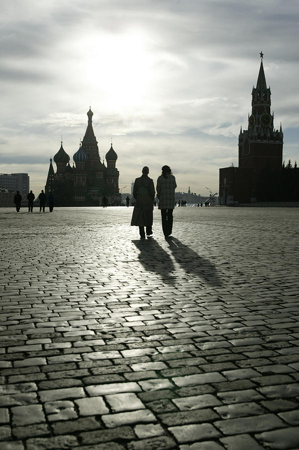 Russia, Moscow, Red Square, Silhouette Photograph by Will & Deni Mcintyre