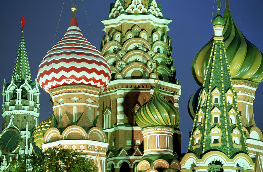 Russia, Moscow, Red Square, St Basils Photograph by Peter Adams
