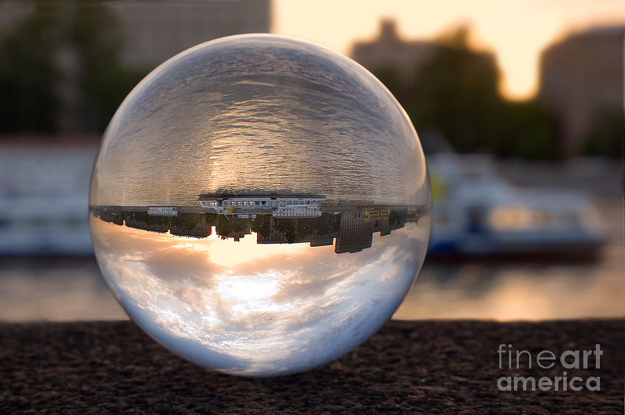 Ball Photograph - Russia Moscow River Sunset by Eremin Sergey