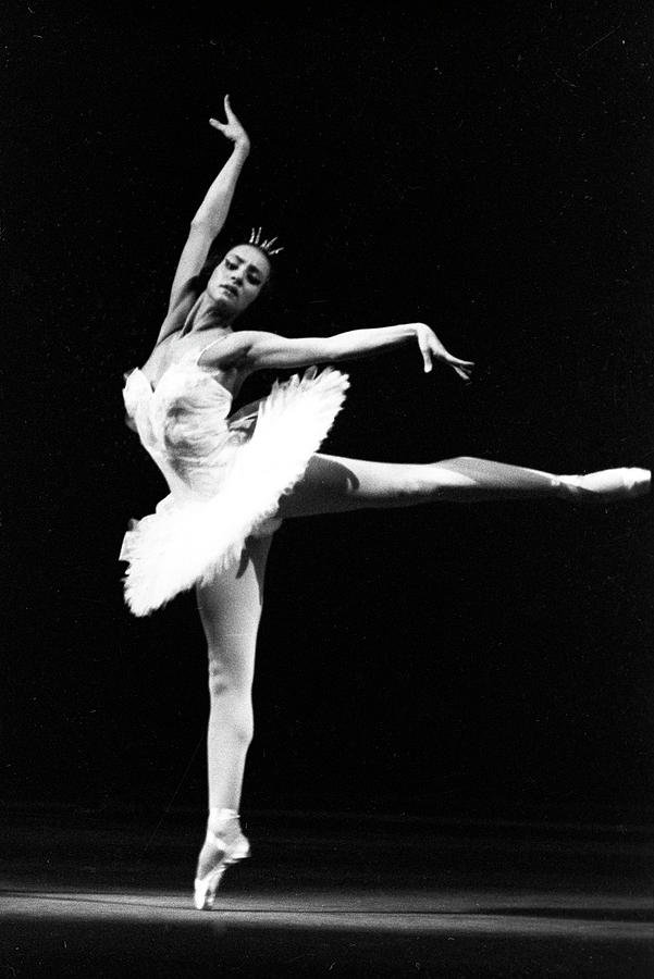 Russian Ballerina Starring In A Bolshoi Theatre Production Of Swan Lake Photograph By Unknown