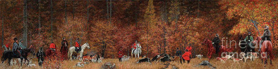 Russian Hunting Painting