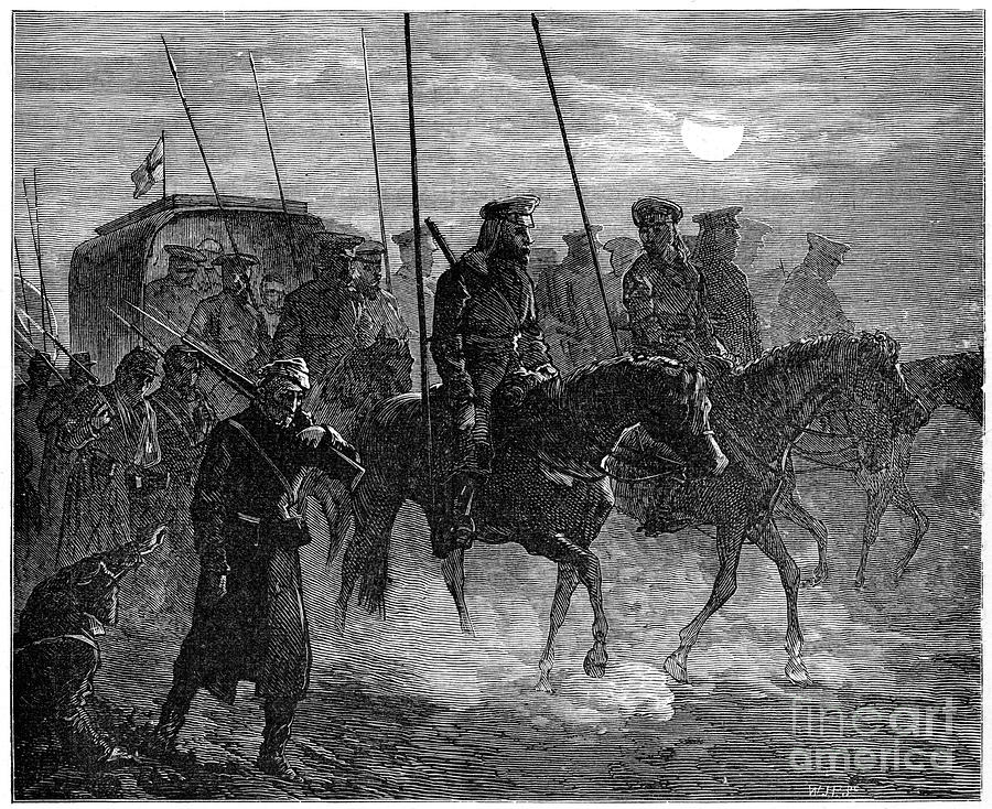 Russian Wounded Leaving Plevna Drawing by Print Collector