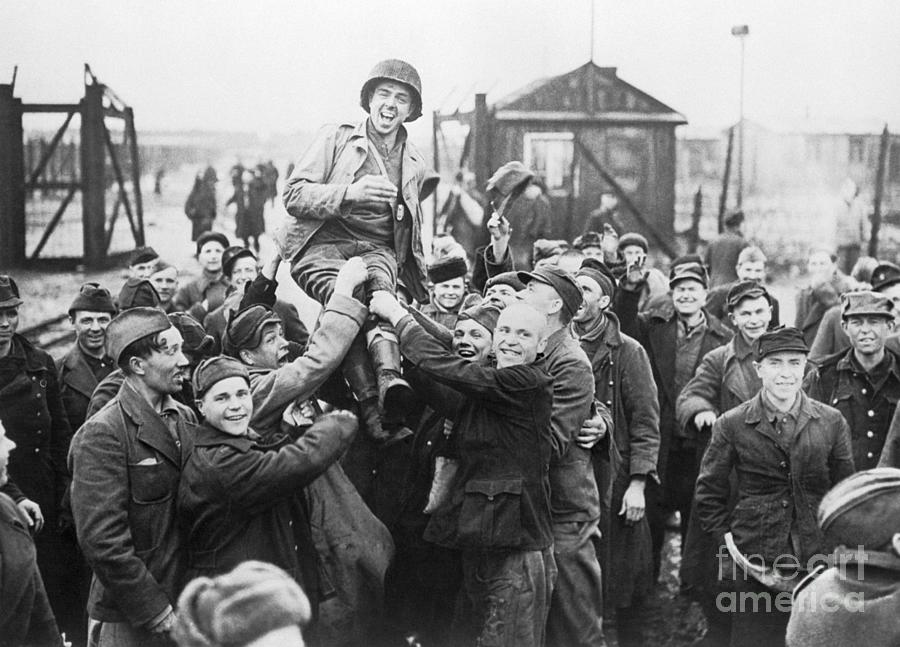 Russians Liberated From Prison Camp Photograph by Bettmann