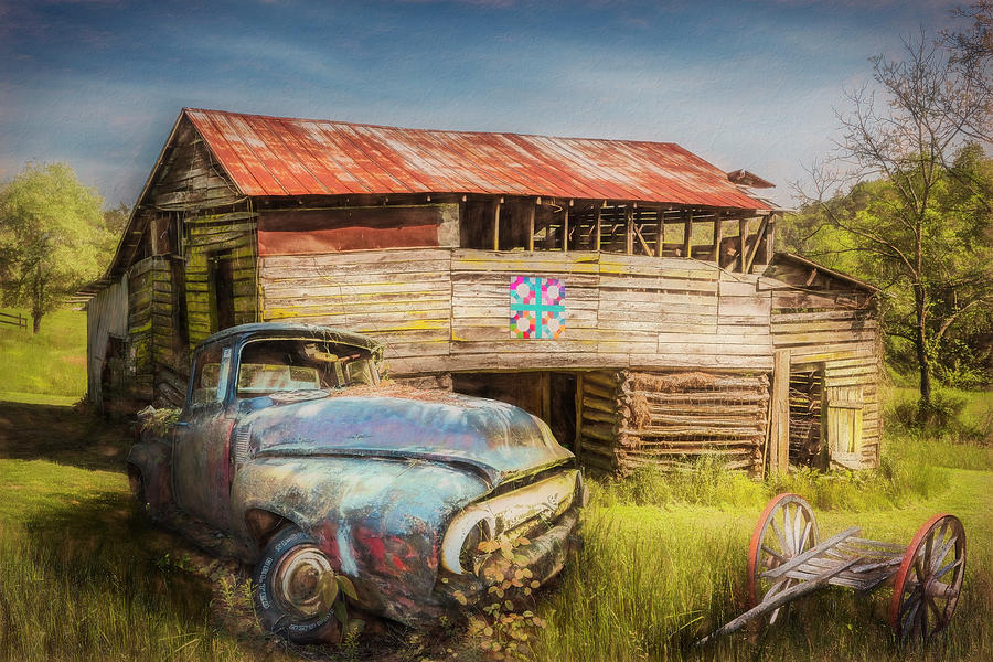 Rust along a Country Road Oil Painting by Debra and Dave Vanderlaan
