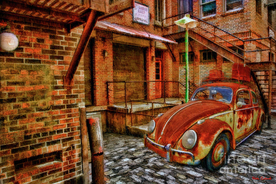 Rusted Building Green Rusted Volkswagen Bug by Blake Richards