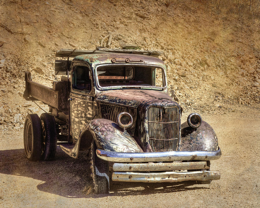 Rusted Flat-bed Truck by Lowell Monke
