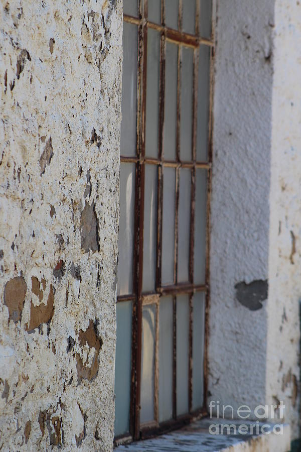 Rusted Window of Barack at Fort Stanton New Mexico by Colleen Cornelius