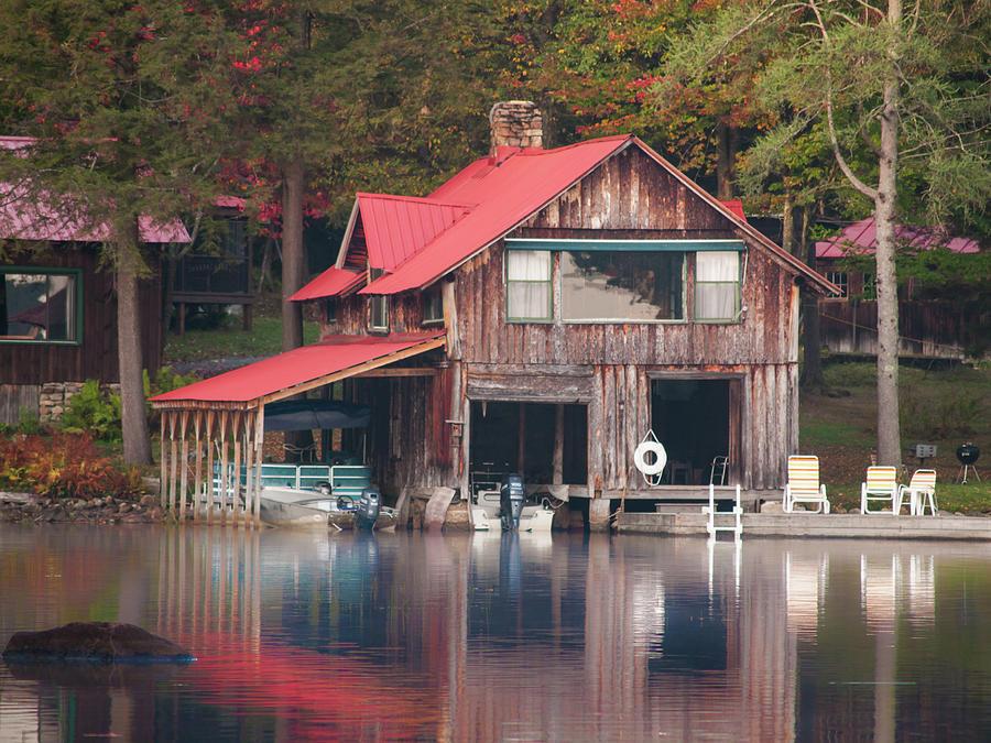 Rustic Boat House by Stewart Helberg