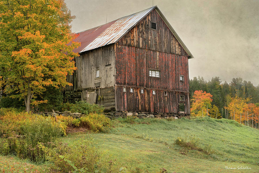 Rustic Charmed - Cabot Vermont by T-S Photo Art