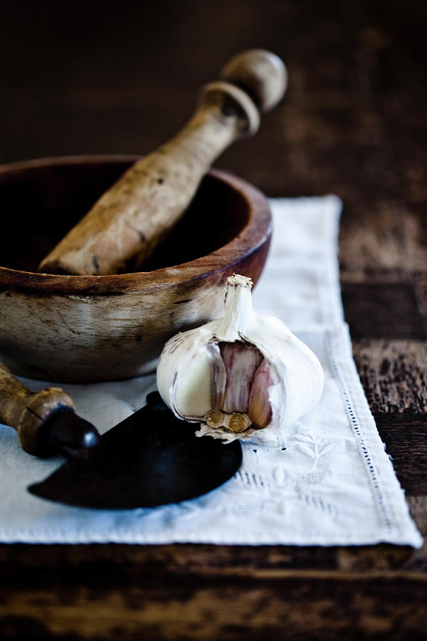 Rustic Garlic Photograph by Virginie Garnier Photography