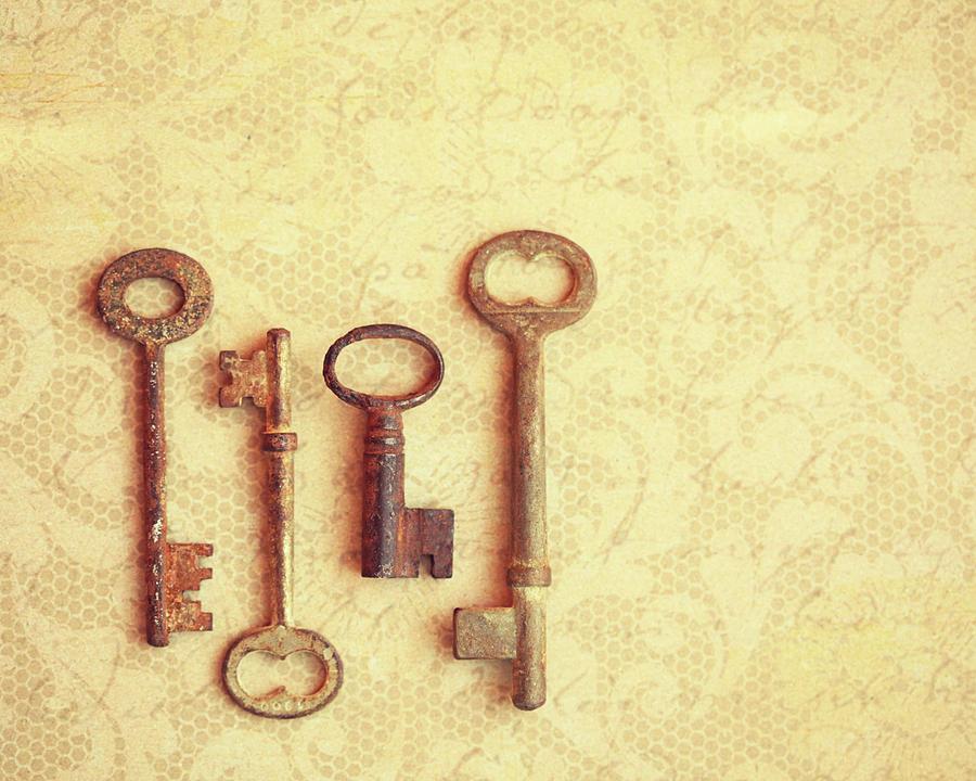 Rustic Keys Photograph by Amelia Kay Photography