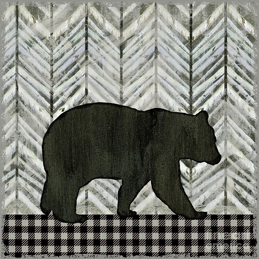 Rustic Mountain Lodge Black Bear by Audrey Jeanne Roberts