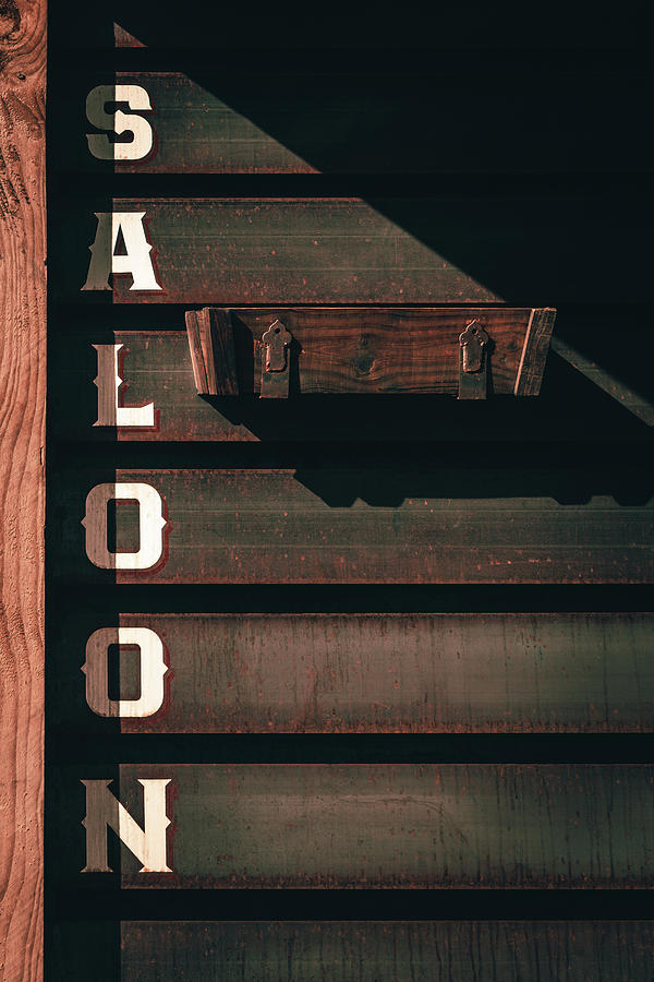 Rustic Wooden Siding On A Saloon In Colorado by Jeanette Fellows