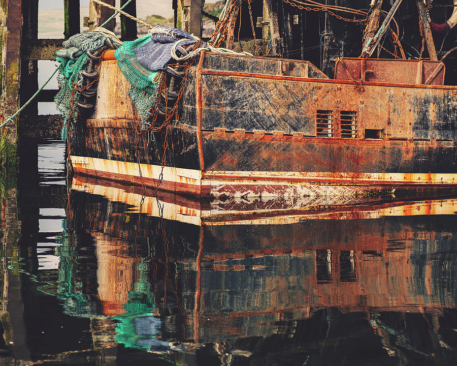 Rusting Trawler by Ray Devlin