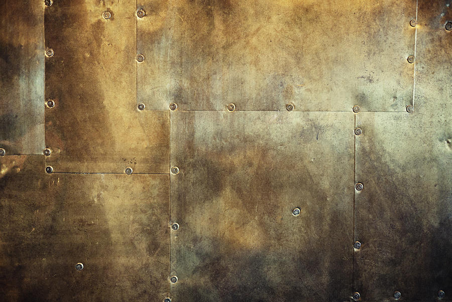 Rusty And Damaged Metal Background Photograph by Vizerskaya