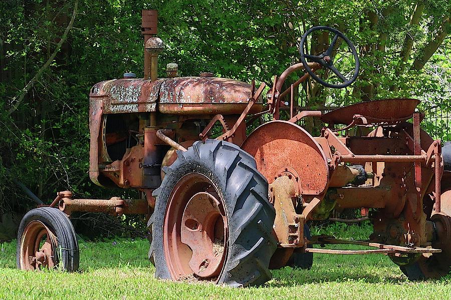Rusty Old Farm Tractor by Connie Fox