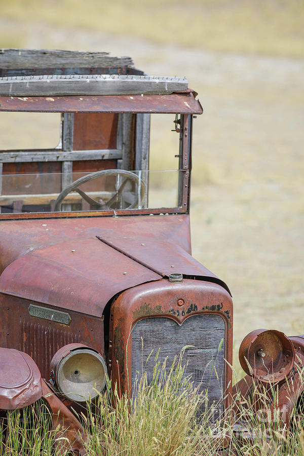 Truck Photograph - Rusty Old Vintage Truck Montana by Edward Fielding