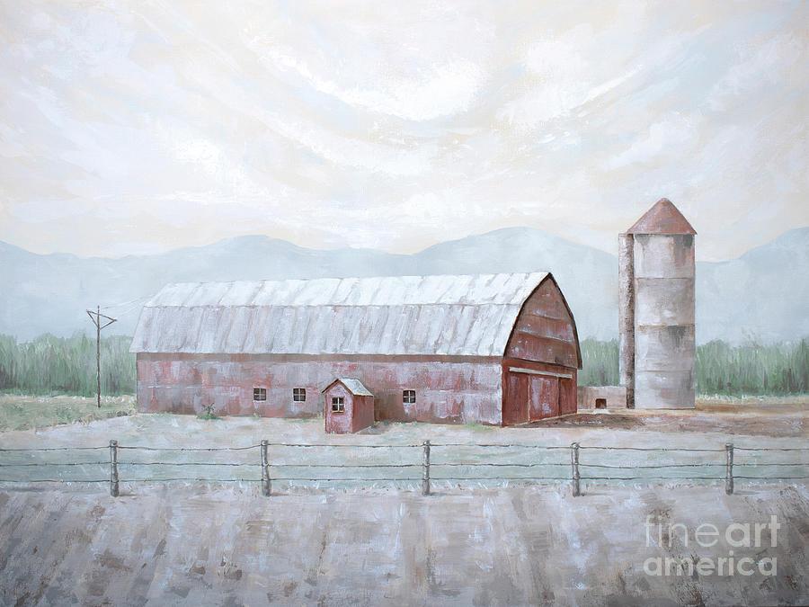 Rusty Red Barn by Annie Troe