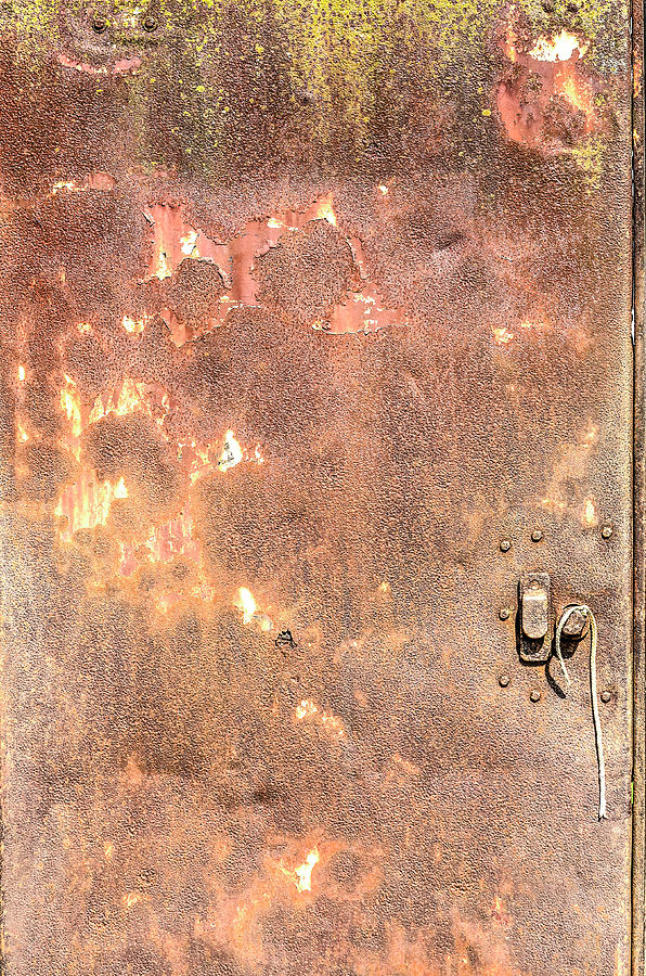 Rusty steel door by Frans Blok