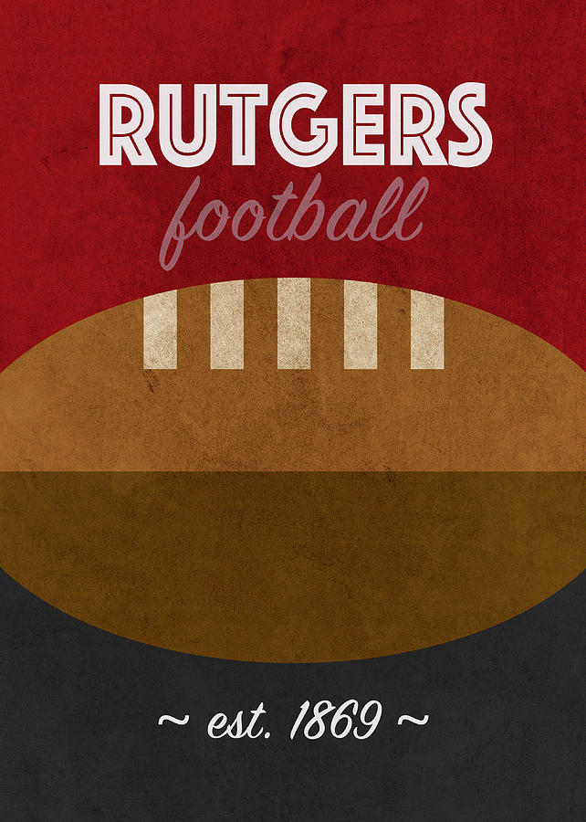Rutgers Mixed Media - Rutgers Football Sports Retro Vintage University Poster Series by Design Turnpike