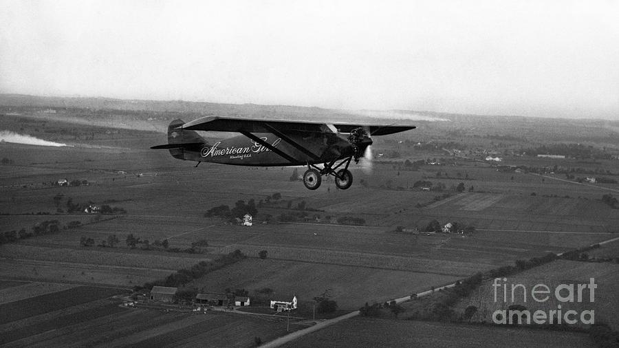 Ruth Elders Airplane Photograph by Bettmann