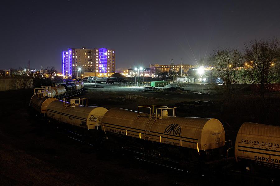 RVA Train at Night by Doug Ash