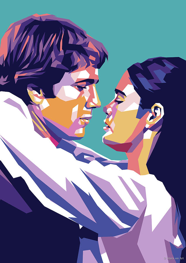 Ryan Oneil And Ali Macgraw Digital Art
