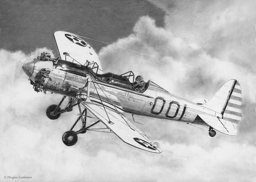 Ryan PT-22 Recruit Drawing by Douglas Castleman