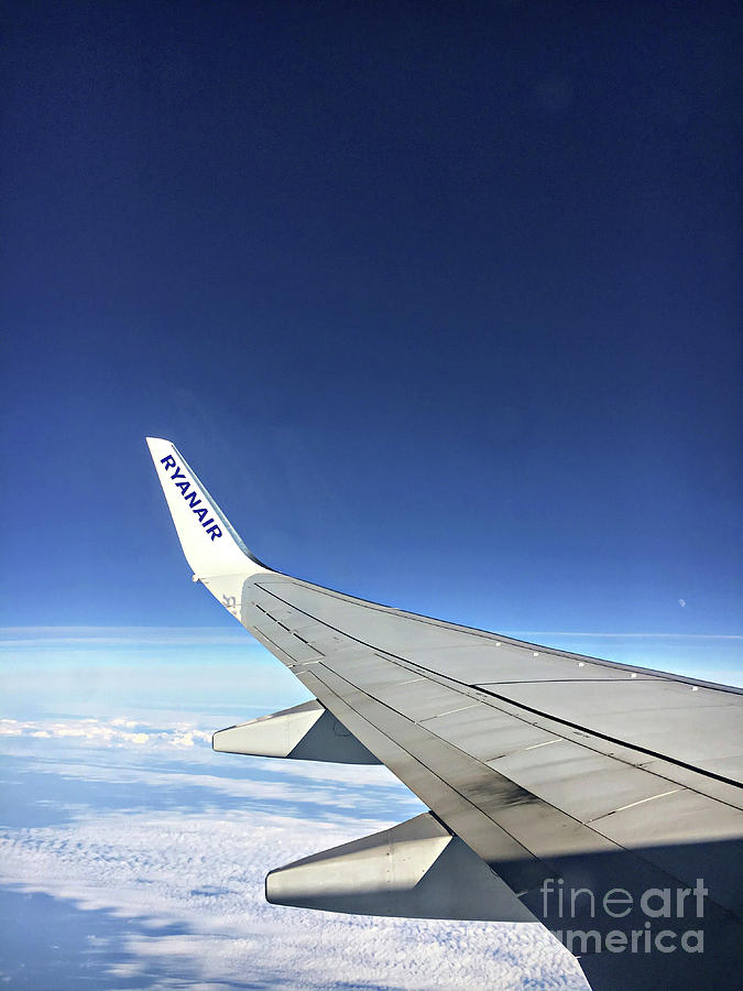 Aircraft Photograph - Ryanair Aircraft Wing by Tom Gowanlock