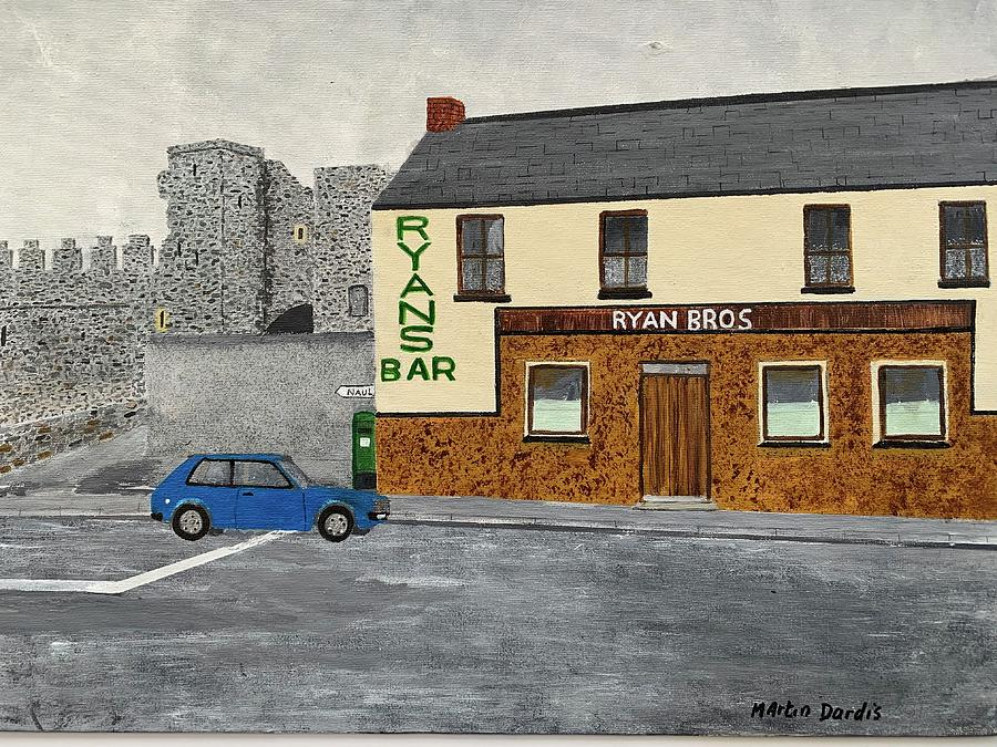 Ryan's Painting - Ryans Pub And Swords Castle Painting by Martin Dardis