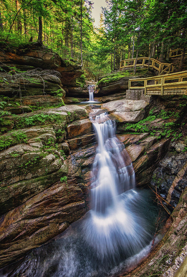 New Hampshire Photograph - Sabbaday Falls by Robert Clifford
