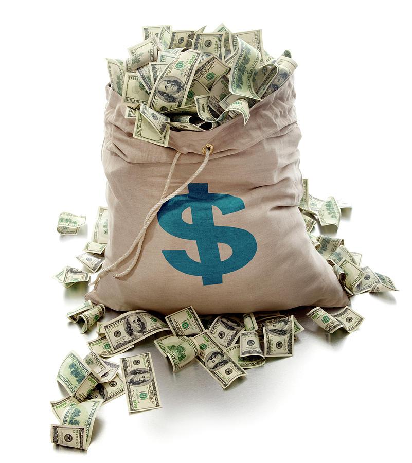 Sack Of Cash Photograph by John Kuczala