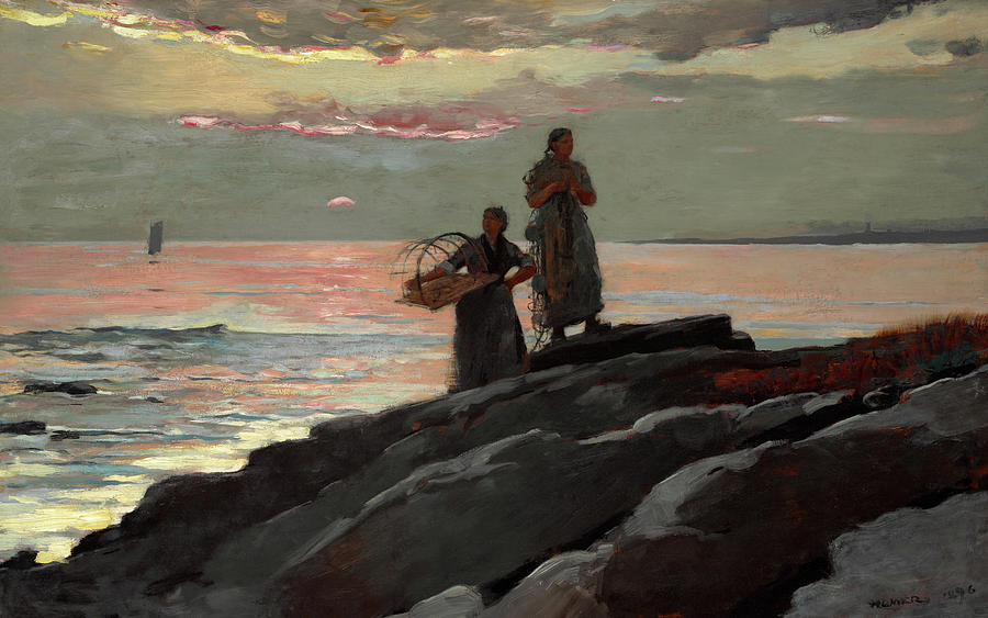 Winslow Homer Painting - Saco Bay, 1896 by Winslow Homer