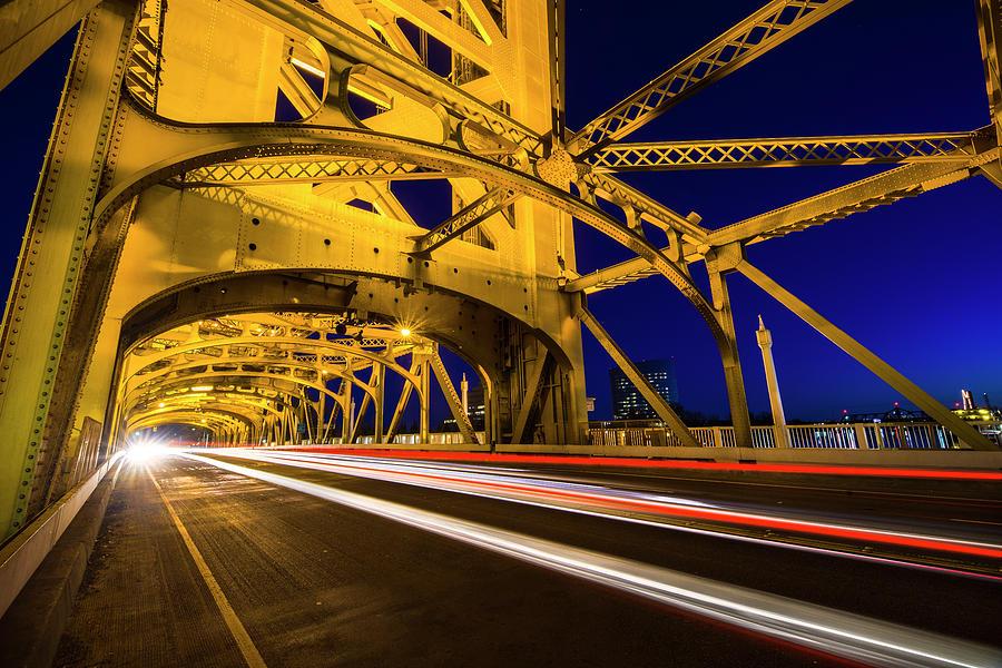 Bridge Photograph - Sacramento Tower Bridge - 4 by Jonathan Hansen