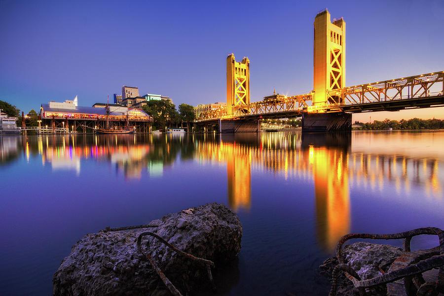 Sacramento Tower Bridge Photograph by Craig Saewong