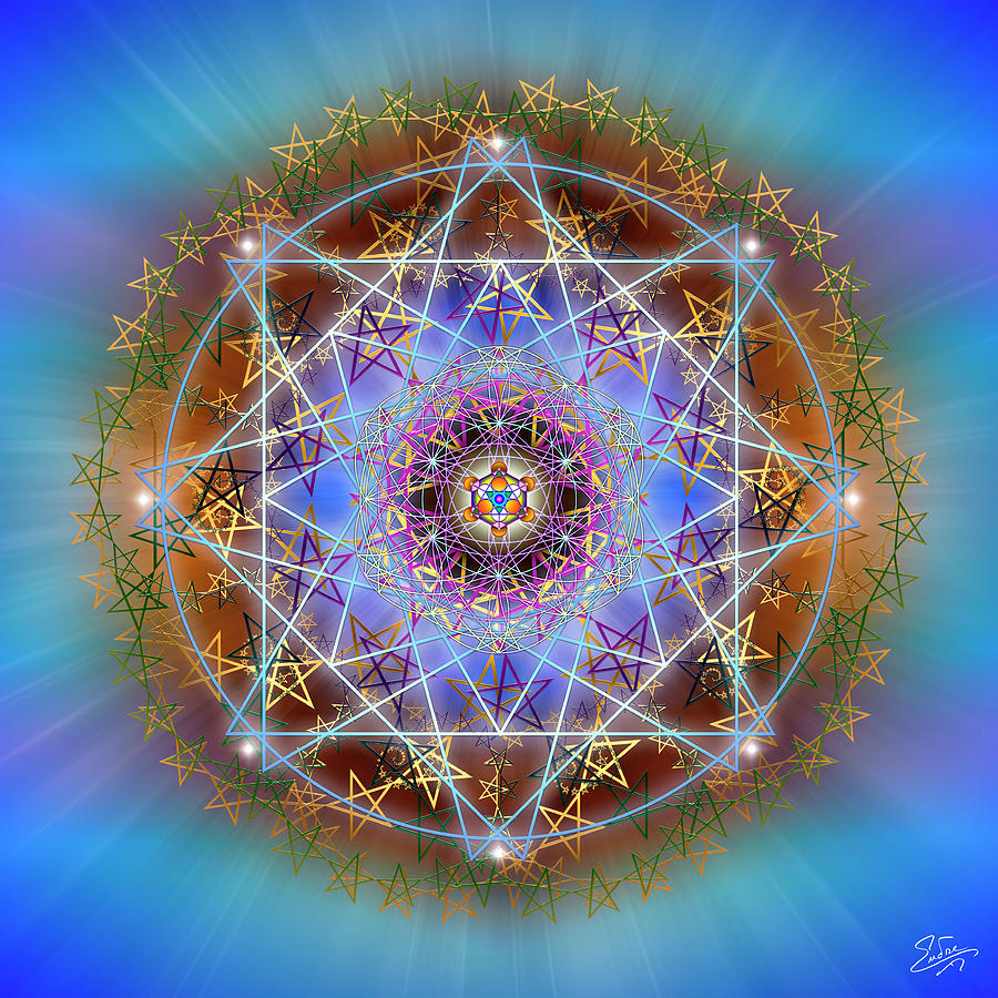 Sacred Geometry 758 by Endre Balogh