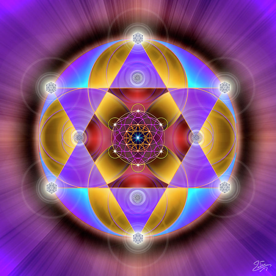 Sacred Geometry 761 by Endre Balogh