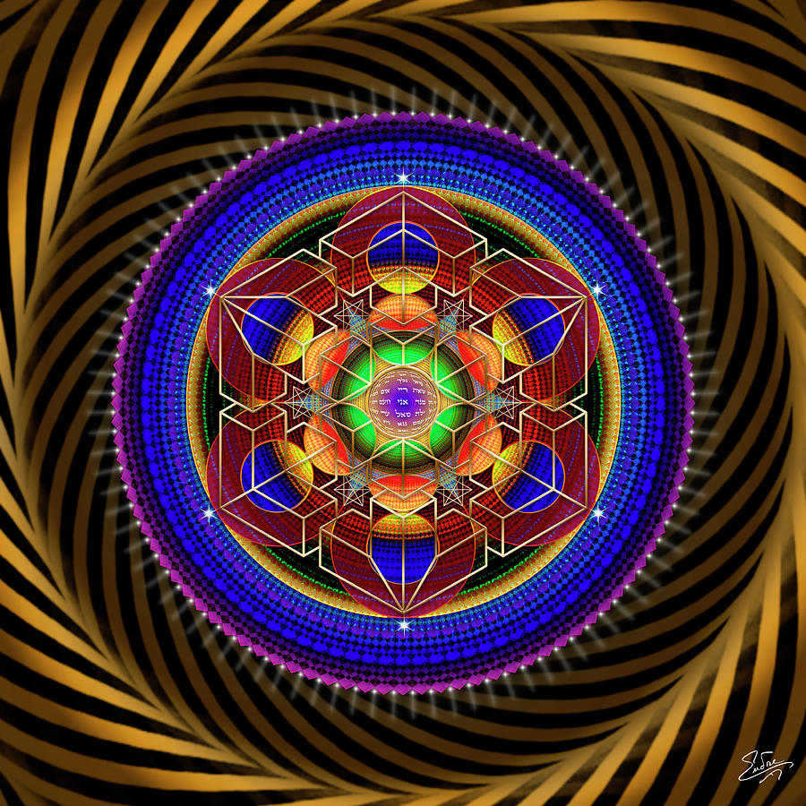 Sacred Geometry 763 by Endre Balogh