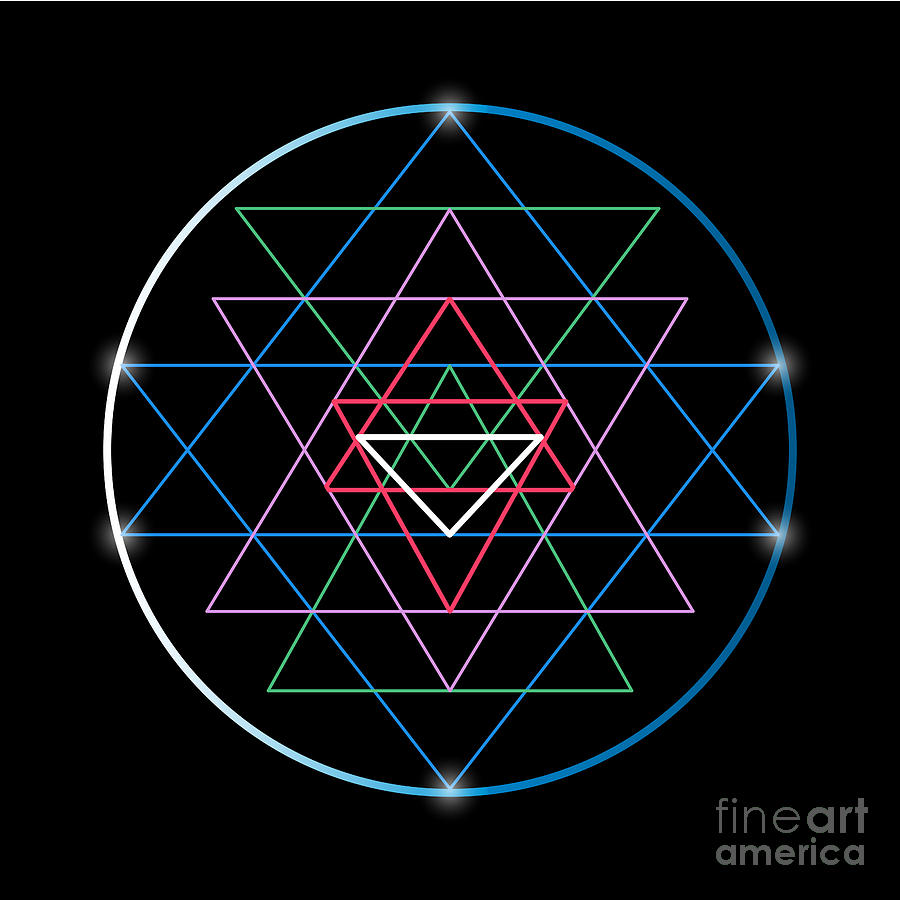Symbol Digital Art - Sacred Geometry And Alchemy Symbol Sri by Maddyz