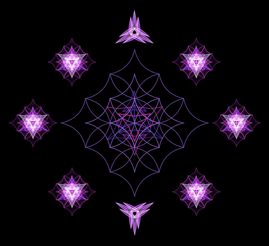 Sacred Geometry Cosmic Love by Nathalie DAOUT