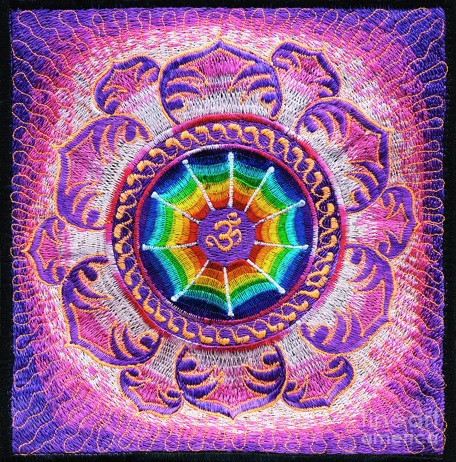 Sacred Lotus AUM by Tim Gainey