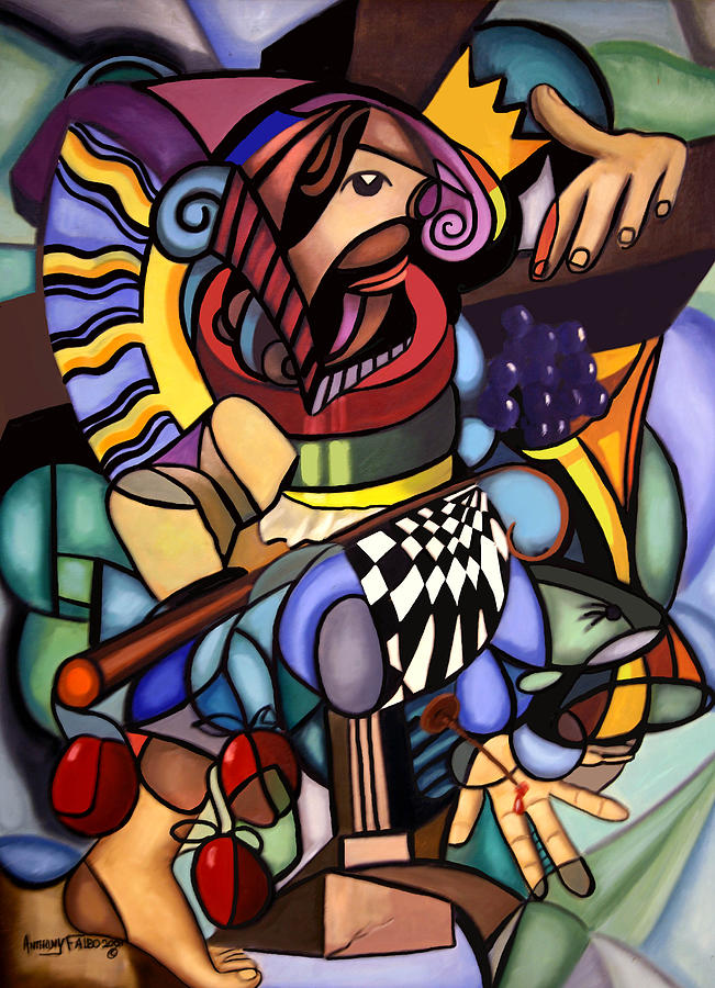 Cubism Painting - Sacrifice Of The Lamb by Anthony Falbo